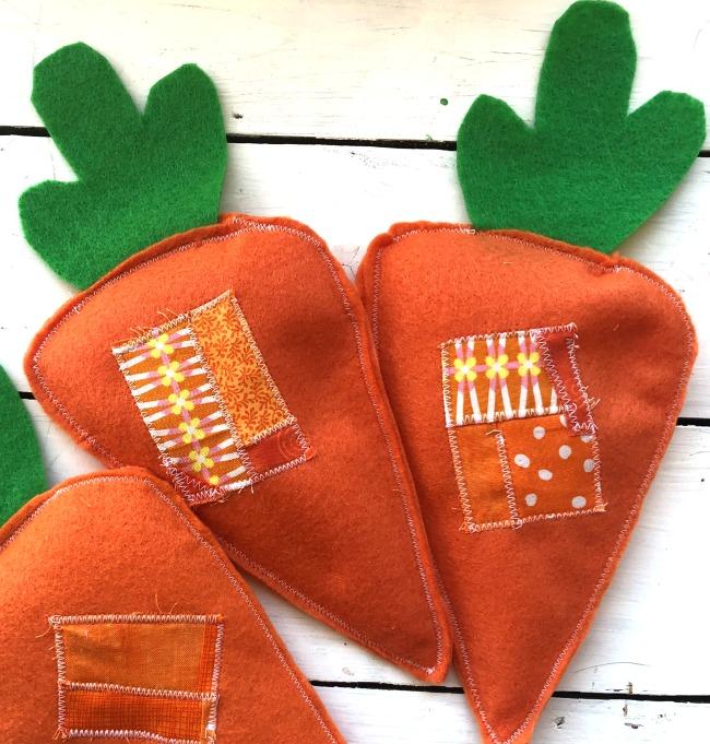 DIY Felt Carrot Beanbags