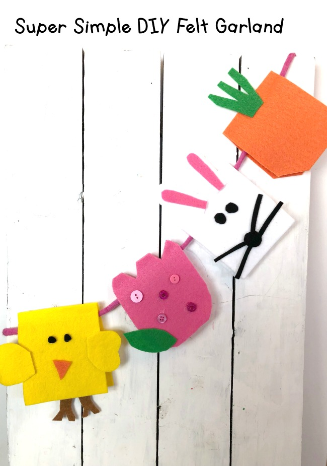 Easter Felt Garland Craft Beginner Project