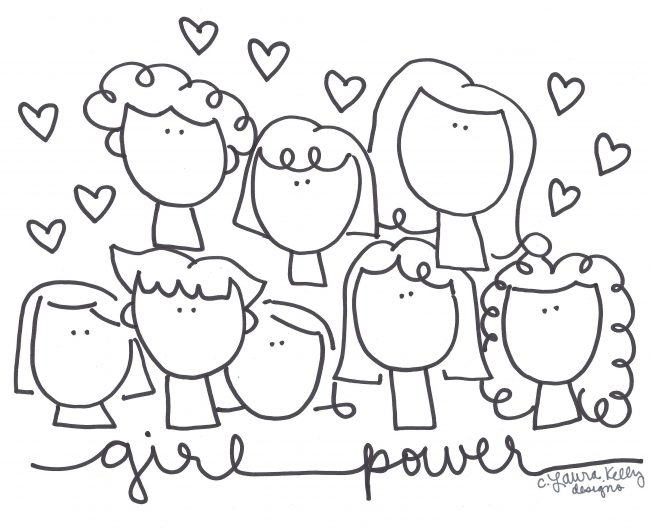 Girl Power Printable Coloring Sheet
