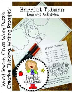 Harriet Tubman Teacher Resource Activities