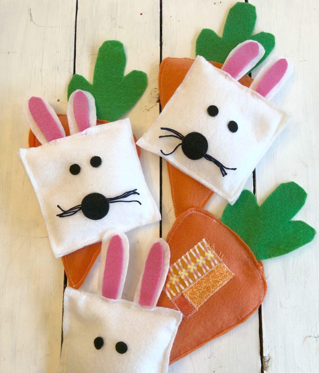 Easter Felt Bunny Carrot Beanbags