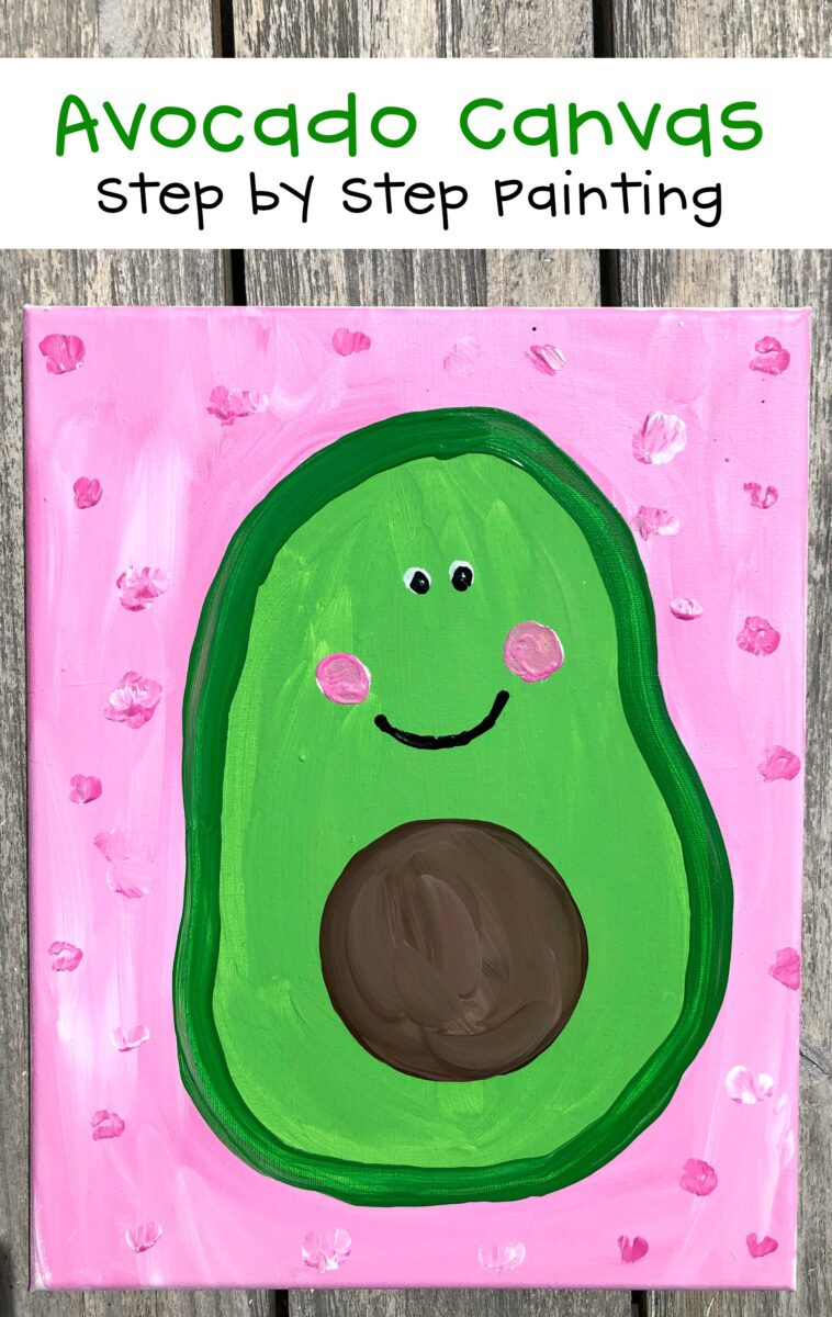 Avocado Painting Step By Step Canvas
