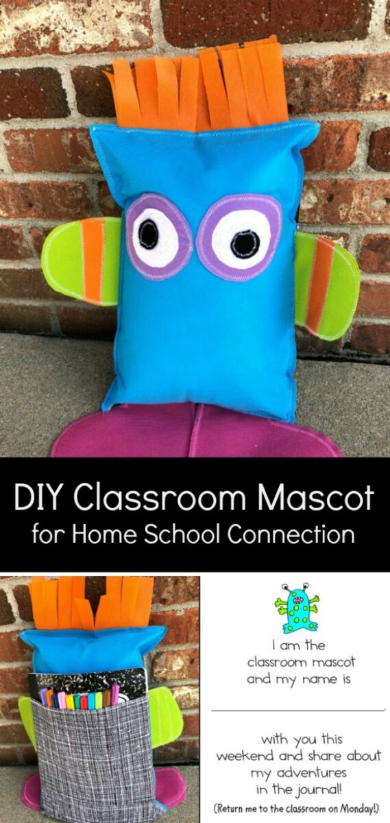 DIY Easy Sew Class Mascot with Fairfield World Back with Pocket and Journal for Writing
