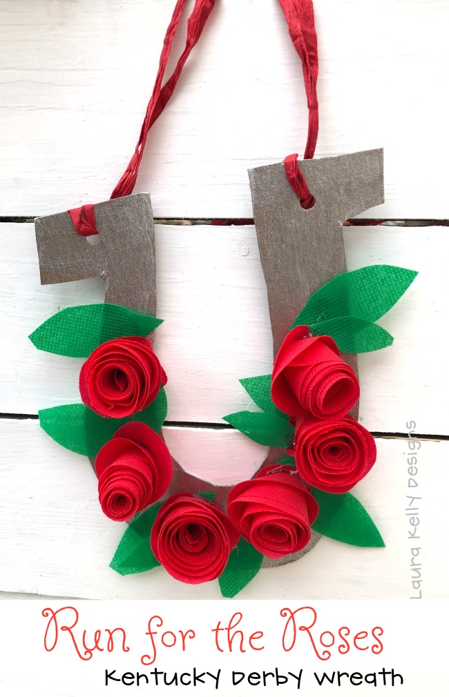 Run for the Roses Kentucky Derby Wreath