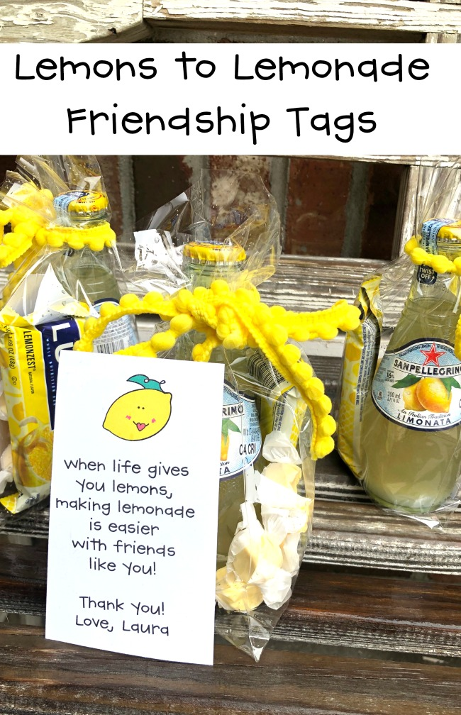 Lemons to Lemonade Gift Friendship Printable
