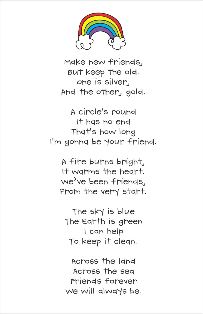 Make New Friends Song Lyrics Printable Download Free