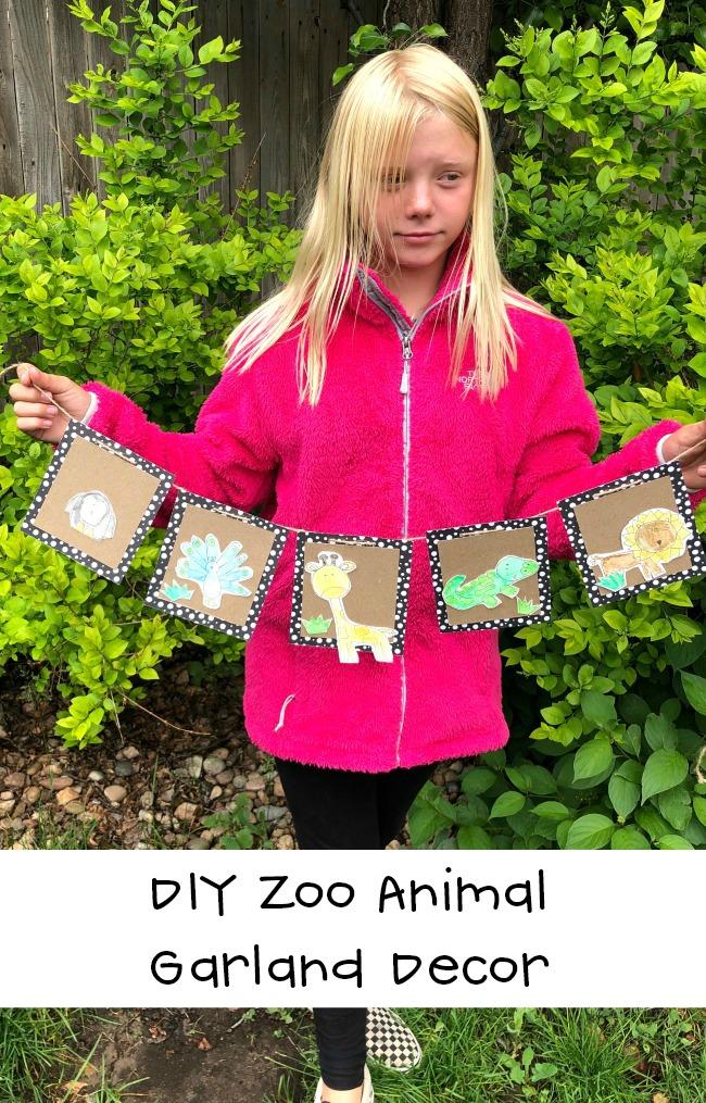 DIY Zoo Animal Garland Decor