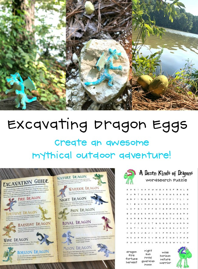 Excavating Dragon Eggs as a Harry Potter Party Activity