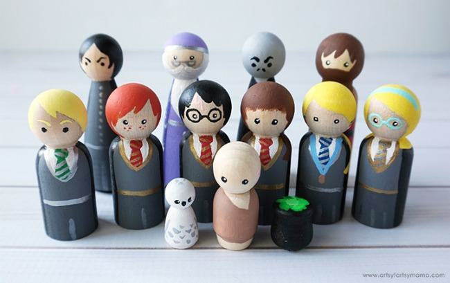 Harry Potter Peg Painted Characters