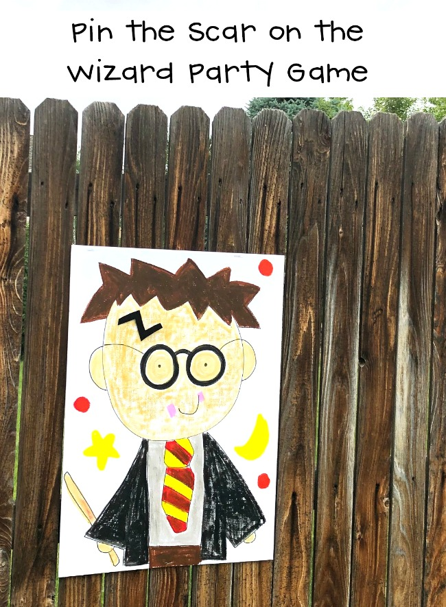Pin the Scar on Harry Potter Wizard Party Game