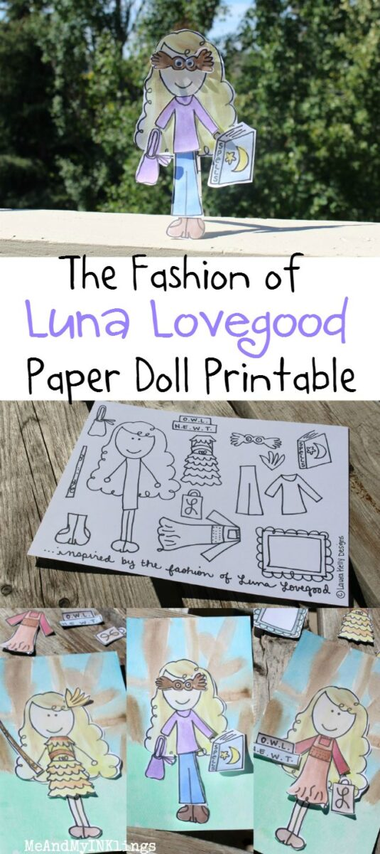 Paper Doll Fun With Luna Lovegood My Harry Potter Fave Laura Kelly S Inklings