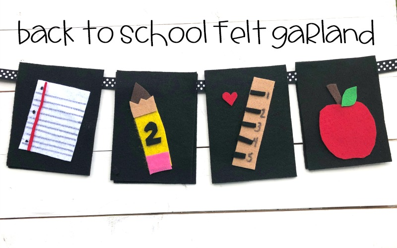 Back to School Felt Garland