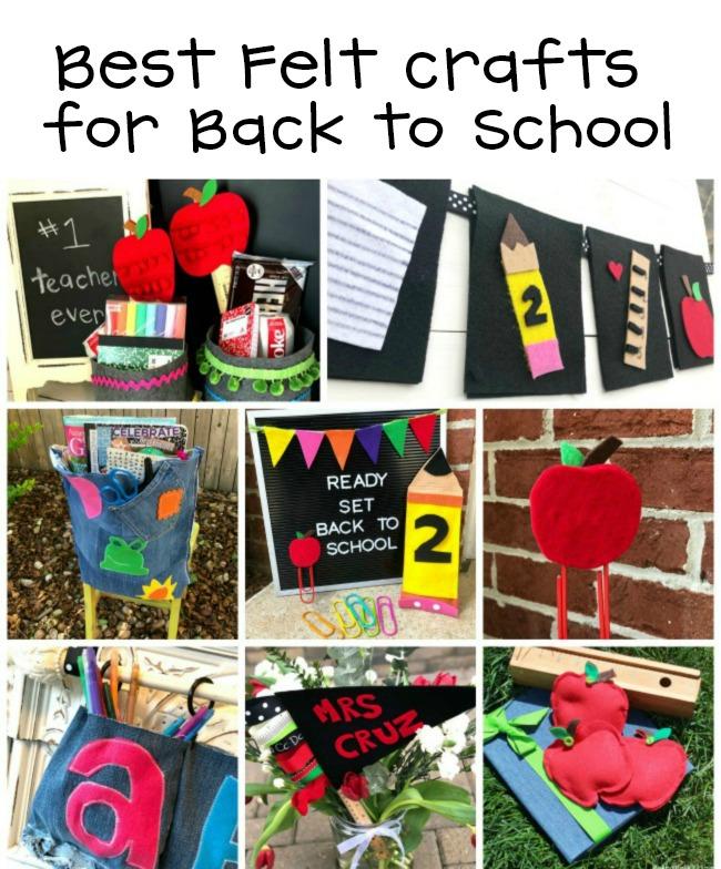 Best Felt Crafts for Back to School