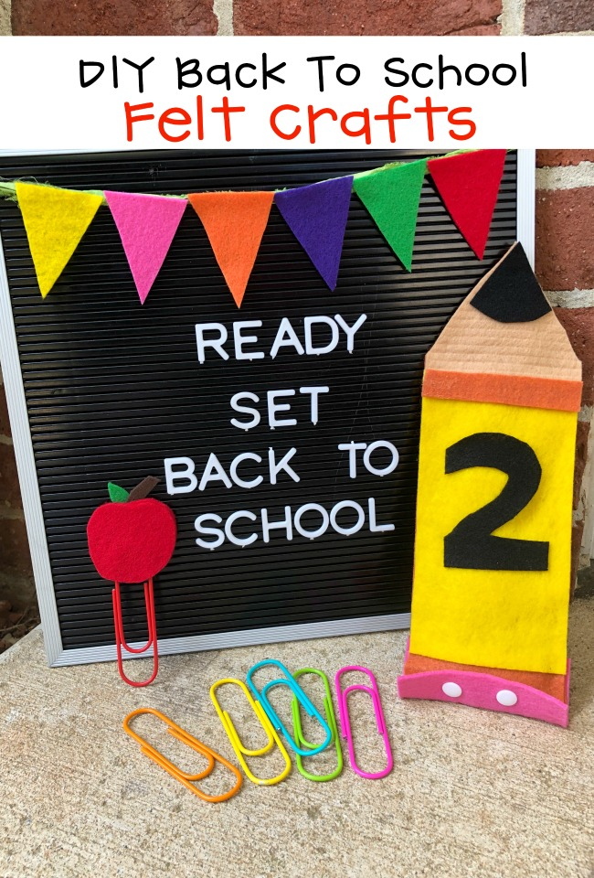 DIY Back to School Felt Crafts