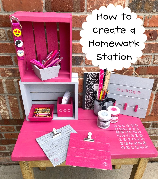 How to Create a Homework Station with DecoArt Stencils and Chalky Finish Paint
