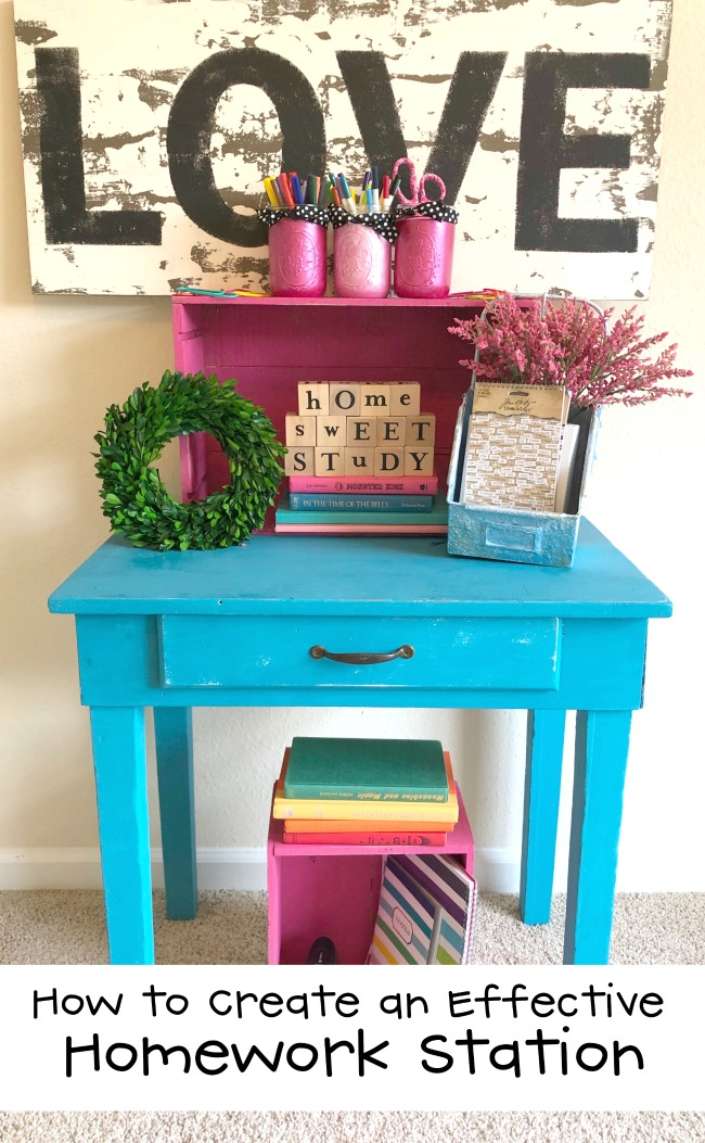 How to Create an Effective Homework Station with Repurpsoed Furniture