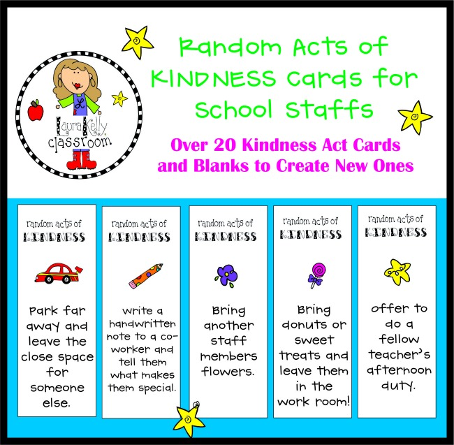 Kindness Cards for Teaching Staffs