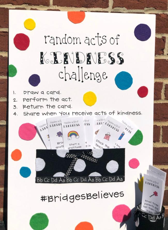 Teacher Staff Random Acts of Kindness Challenge