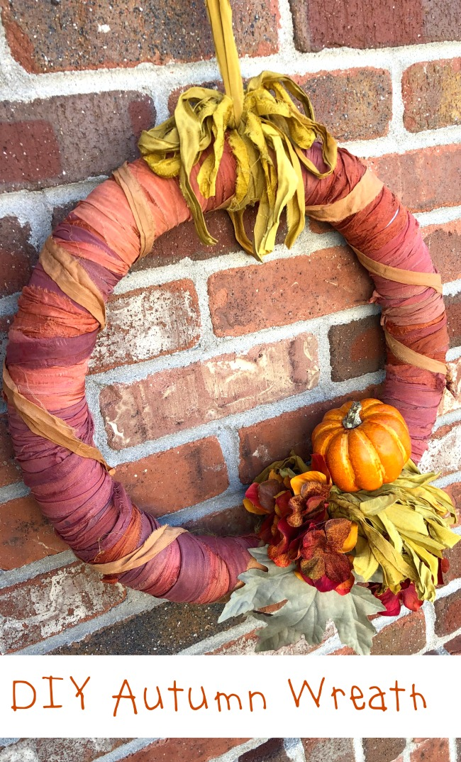 DIY Autumn Wreath Chiffon Ribbon Yarn
