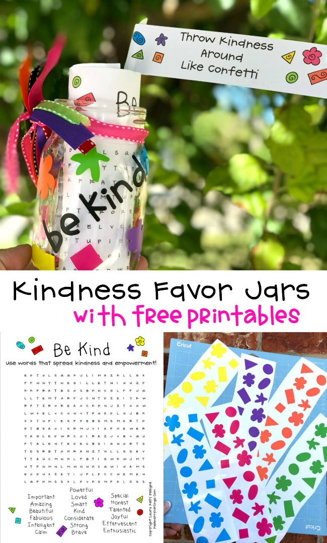 Cricut KIndness Favors in Jars