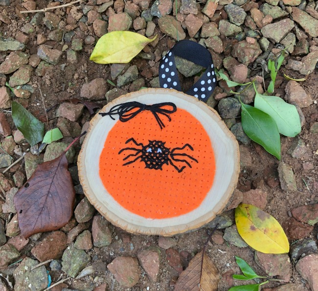 Spider Stitchable Felt Halloween Ornamant