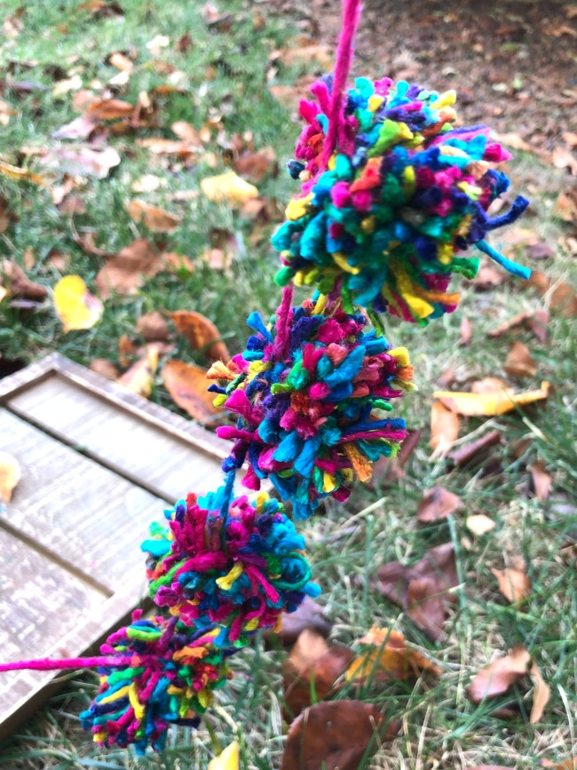 How to Make Pom-Poms Pom Poms Tied Together