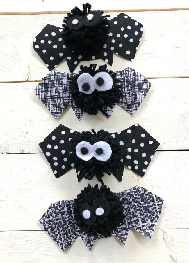 Pom-Pom Bats Assembled
