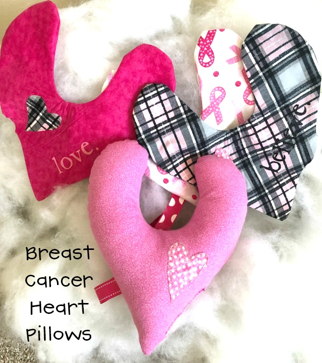 Breast Cancer Heart Pillow Free Pattern