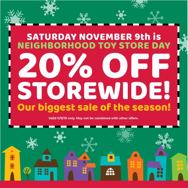 Neighborhood Toy Store Day Beyond the Blackboard