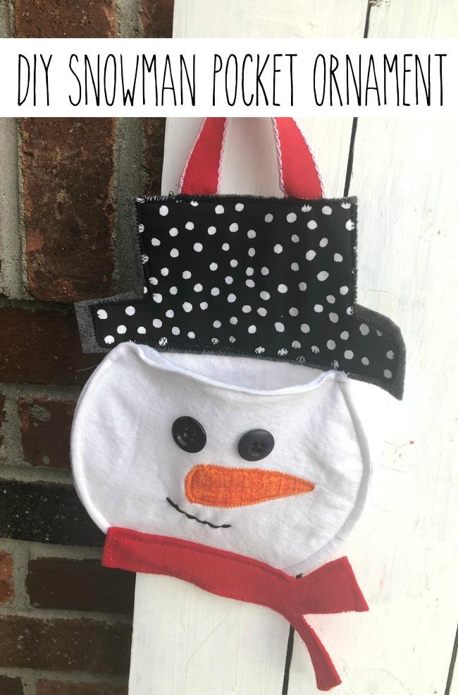 DIY Pocket Snowman Ornament