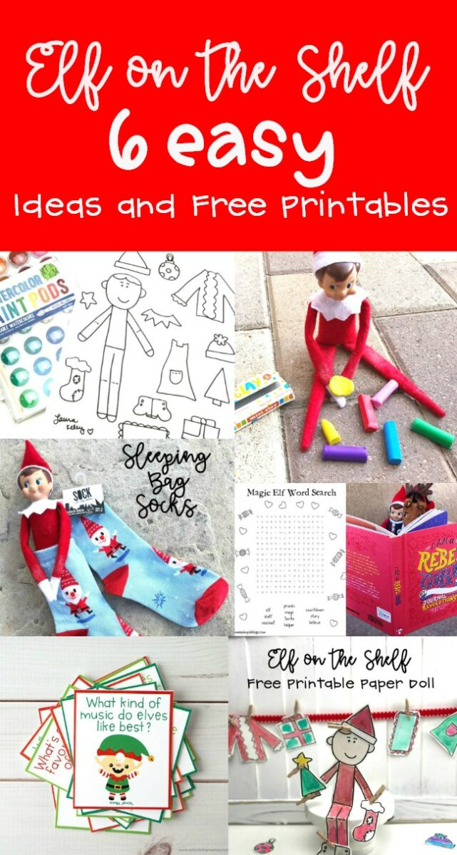 Elf on the Shelf Ideas and FREE Printable