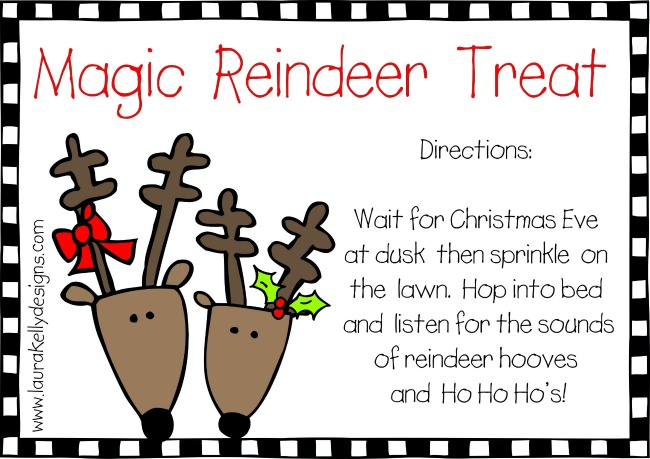 Free Printable Reindeer Food Tags