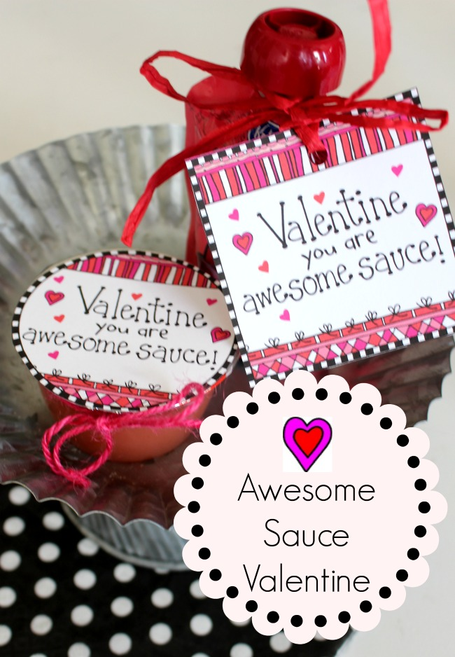 Free Valentine Printable Apple Sauce