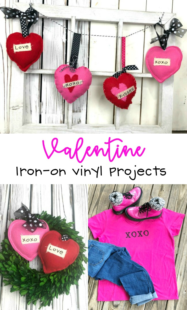 Cricut Valentine Garland and Tee Iron On Projects