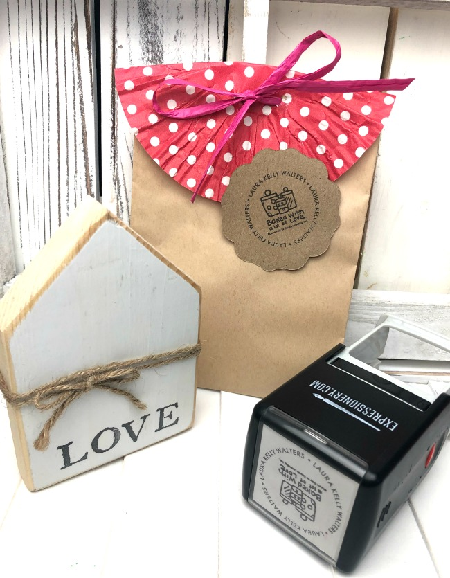Expressionery Baked with Love Stamp Laura Kelly Designs