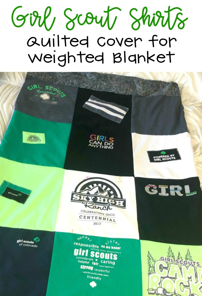 Girl Scout TShirt Quilt Cover for Weighted Blanket