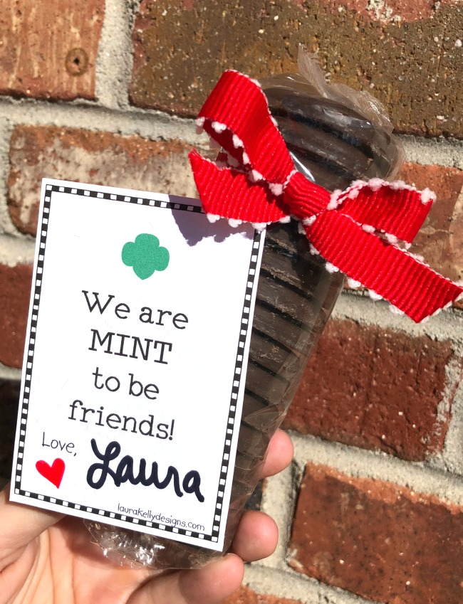 Free Valentine Printable Thin MInt Girl Scout Cookies