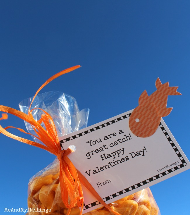 Free Valentine Printable Goldfish Crackers
