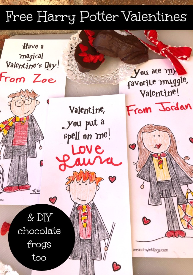 Free Harry Potter Valentines Day Cards Printable