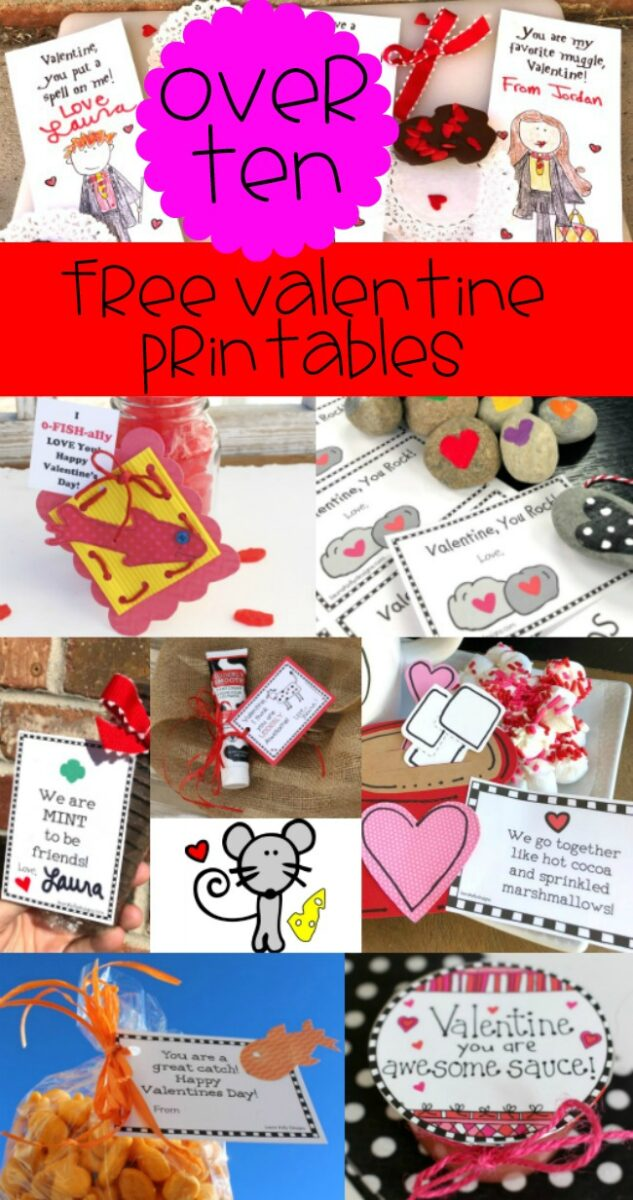 Free Valentine Printables to go With Treats