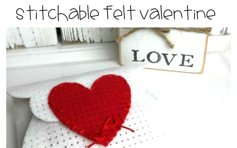 Stitchable Felt Valentine