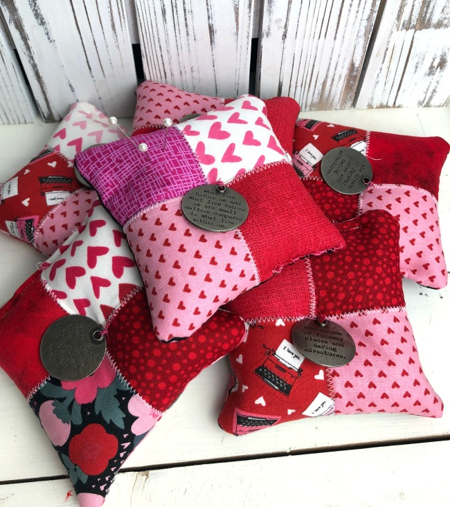 Valentine Pin Cushions With Poly Pellets