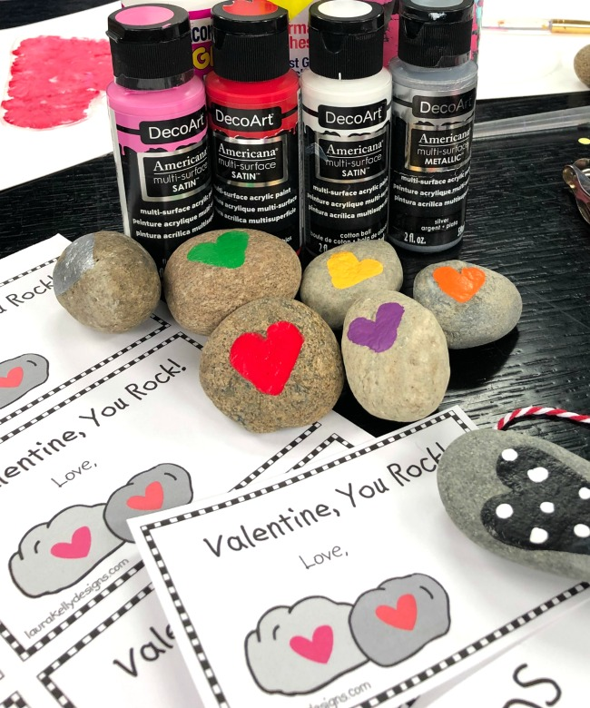 Free Valentine Printable Rocks