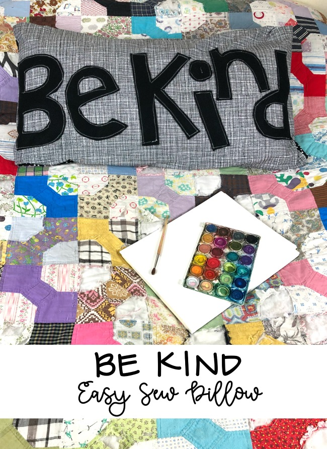 Be Kind Easy Sew Pillow
