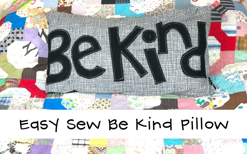 Easy Sew Kindness Pillow