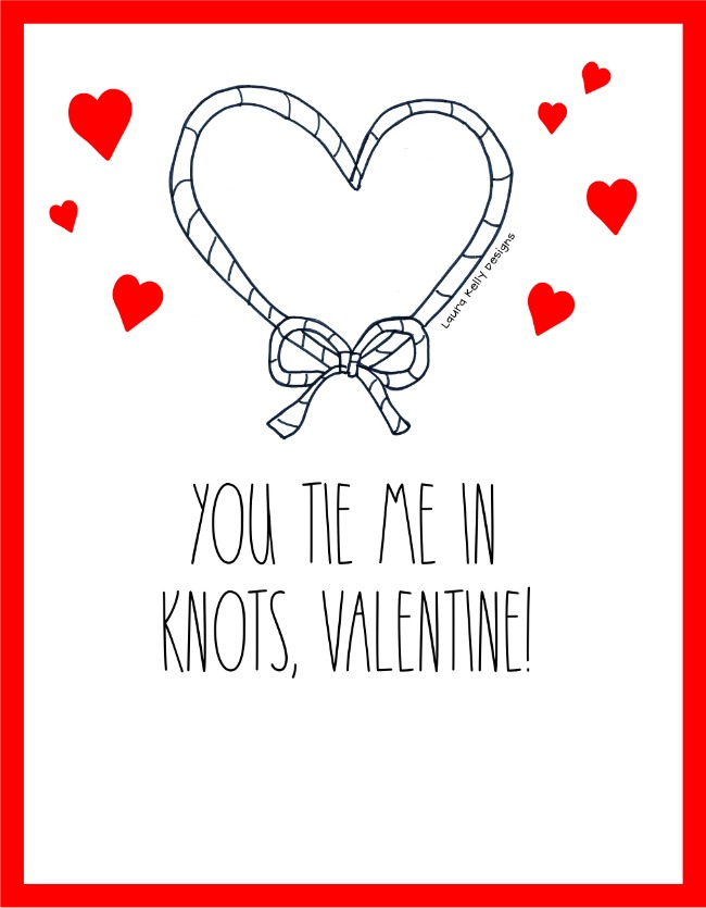 You Tie Me in Knot Valentine Free Printable