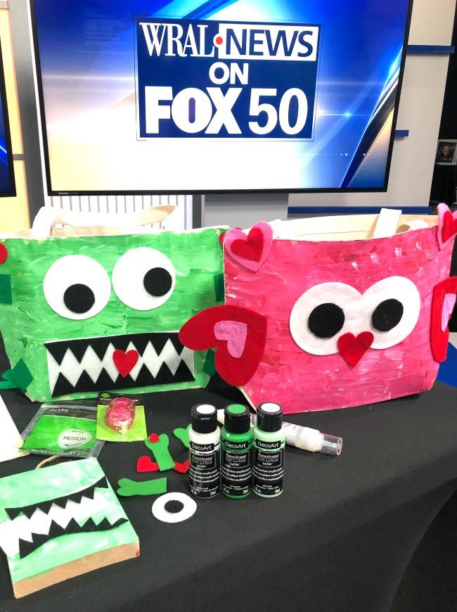 Valentine DIY Bags with Cricut on FOX News