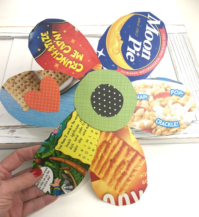 Cereal Box Recycled Paper Flower