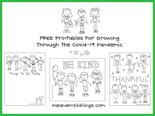 Covid19 Coloring Printables FREE