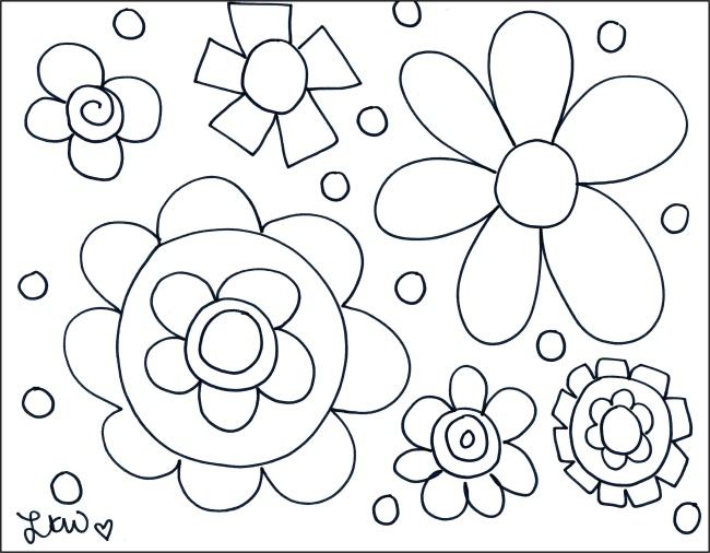 FREE Flower Coloring Sheet Printable